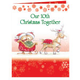 Years Together Teddy Bear Couple Christmas Card Set of 20