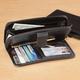 Zip And Snap Wallet - Black