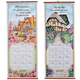 Bless This House Wall Scroll Calendar Multicolor