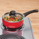 Red Ceramic Sauce Pan - 1.5 Qt.