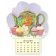 Teapot & Cupcake Mini Magnetic Calender