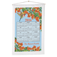 Floral Hummingbird Personalized Calendar Towel