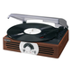 Jensen 3 Speed 222 Wooden Stereo Turntable with Radio