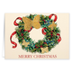 Butterfly Wreath Embossed Christmas Card Set Of 20