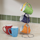 Polka Dot Mug Set with Stand