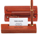 Personalized Rosewood Single Pen Box With Holder