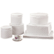 Dinnerware Storage Cases, White