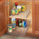 Roll Out Cabinet Organizer, Silver