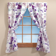 Violet Floral Window Curtain