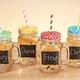 Mason Jar Chalkboard Glasses, Set of 4