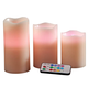 Color-Changing LED Candles, Set of 3 plus Remote