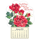 Roses in Bloom Mini Magnetic Calendar