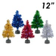 12 Fiber Optic Tinsel Tree
