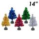 14 Fiber Optic Tinsel Tree