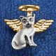 Cat Angel Pin