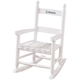 Personalized Child's White Rocker, White/Black