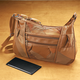 Saddle Brown Patch Leather Organizer