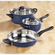 5-pc. Blue Stainless Cookware Set by Home-Style Kitchen