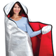 Hooded Emergency Blanket by LivingSURE, One Size