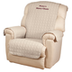 Personalized Beige Recliner Cover by OakRidge Comforts, Burgundy