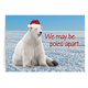 Polar Bear Greetings Christmas Card set of 2 Non Personalized