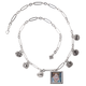 Chain Necklace with Photo & Charms, One Size