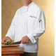 Personalized White Chef's Jacket, Medium