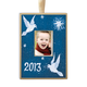 Personalized Hand Painted Peace Ornament, One Size