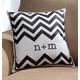 Monogrammed Chevron Pillow, One Size