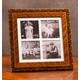 Rosa Marquetry Quad Picture Frame 3x3 3