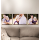 Custom Horizontal Triptych Canvas, One Size
