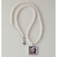 Cultured Pearl Photo Necklace, One Size