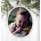 Custom Vertical Porcelain Photo Ornament, One Size