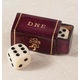 Leather Dice Box With Dice