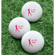 Personalized Women's Golf Balls - Set of 6, One Size, White