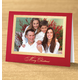 Traditional Merry Christmas Photo Christmas Card, Regular