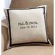 Mr. & Mrs. Personalized Pillow, One Size, White