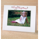 Floral Christmas Script Photo Christmas Card Set of 18, White