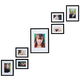 Staircase Picture Frame Set - Set Of 7, One Size