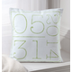 Birth Date Pillow, One Size, Blue