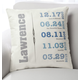 Family Timeline Pillow, One Size, Blue