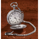 Brushed Nickel Pocket Watch, One Size