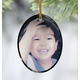 Oval Glass Photo Ornament, One Size