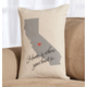 Home State Throw Pillow, One Size
