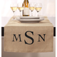 Monogram Personalized Table Runner, One Size