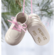 Personalized Baby Bootie Ornaments, One Size, Blue