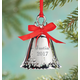 Personalized Silver Plated Christmas Bell Ornament, One Size