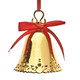 Personalized Gold Tone Christmas Bell Ornament, One Size
