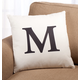 Times Monogram Pillow 18 x 18, 18