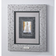 Custom Triple Mat Contemporary Nickel Frame, One Size